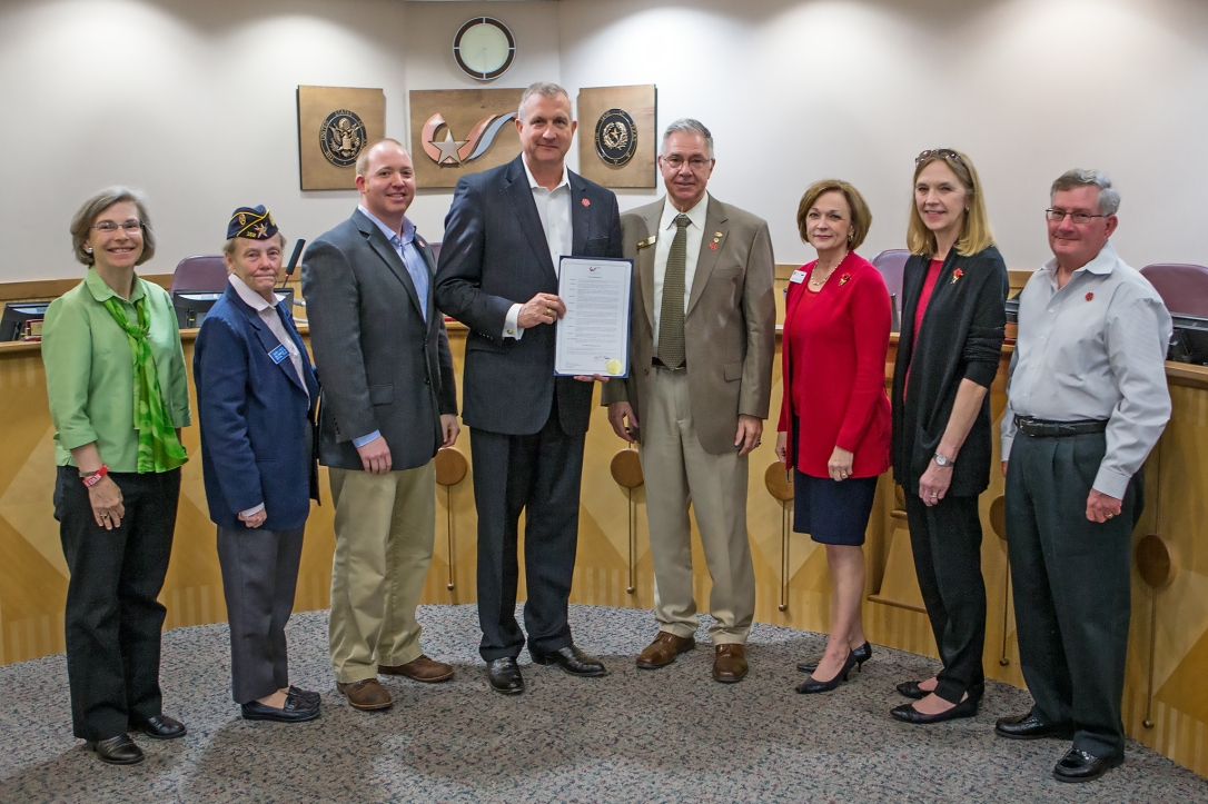 College Station Proclamation Group photo